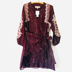 Anthropologie Embroidered Dress Size S